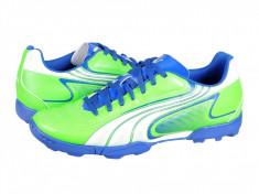 Ghete fotbal Puma V6.11 TT green-white-blu 10234810, 44, 45, Greige, Barbati