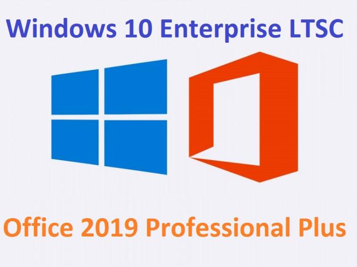 Stick bootabil Windows 10 Enterprise LTSC + Office 2019 licenta originala retail