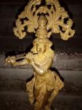 Sculptura, statueta antica orientala din bronz masiv
