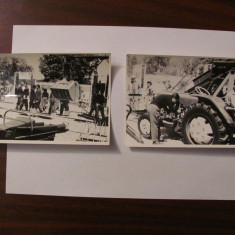 PVM - Lot 4 fotografii foto vechi auto moto 17,50 cm x 11,50 cm datate mai 1962
