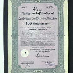 Titlu De Stat Obligatiune Germania -1940-100-Reichsmark