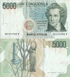 1985 (4 I), 5.000 lire (P-111c) - Italia!