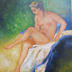 Tablou nud Diana semnat Cimpoesu.