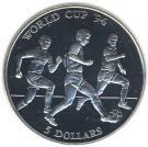 Insulele Cook 5 Dolari 1991 - (World Cup '94) Argint 9.95 g/500, Aoc1 KM-149 UNC
