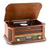 Auna Belle Epoque 1908 DAB, sistem stereo retro, gramofon, DAB +, Bluetooth