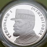 50 Bani 2019 PROOF , Moneda Regele Ferdinand I intregitorul in capsula , Romania