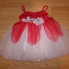 costum carnaval serbare rochie dans zana floare pentru copii de 3-4 ani