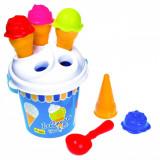 Set jucarii pentru plaja, model inghetata, 6 piese,multicolor