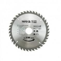 Disc cu placute vidia pentru lemn 184mm, Yato YT-6061, 40 dinti