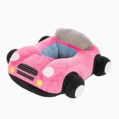 Fotoliu din plus bebelusi, de pozitionare, masinuta roz