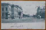 Carte postala circulata , Liceul Gheorghe Lazar si zona inconjuratoare , 1902, Printata