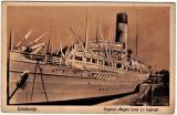Carte postala aprox.1930 Constanta vaporul Regele Carol I. inghetat