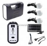 Kit Solar Lanterna LED, USB, 3 Becuri, 6V 4Ah GDLite GD8017C