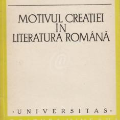 Motivul creatiei in literatura romana