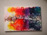 Tablou abstract Bubbles, Nonfigurativ, Acrilic