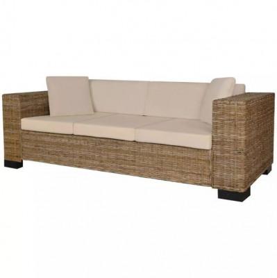 Set canapea de 3 locuri din poliratan 8 piese foto