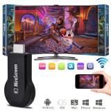 Streaming player Mirascreen 1080P, memorie RAM 128 MB, HDMI Full HD, Wi-Fi 1.2 GHz, Resigilat