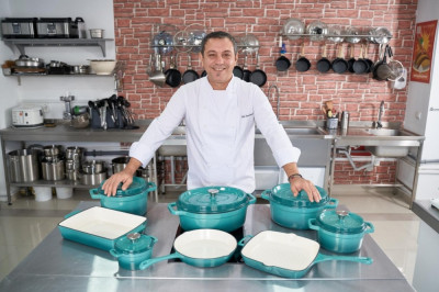 Grill Fonta Emailata 26.5X26.5X5 Cm, Taste Of Home By Chef Sorin Bontea foto