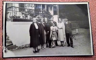 Poza de grup la Zizin - Fotografie tip carte postala datata 1938 foto