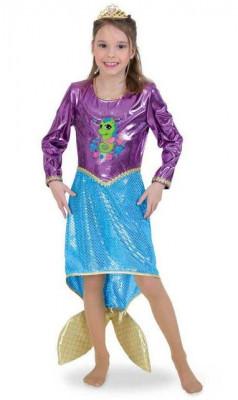 Costum pentru serbare Sirena Deluxe 128 cm foto