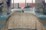 Cuvertură de pat Valentini Bianco din brocard, Fust 171 Bej