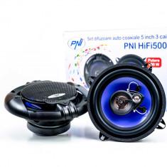 Resigilat : Difuzoare auto coaxiale PNI HiFi500, 100W, 12.7 cm, 3 cai, set 2 buc
