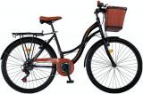 "Bicicleta City Vision Holiday , Culoare Negru/Maro Roata 26"" OtelPB Cod:202601000306"