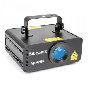 Beamz Ananke Laser 3D Control roșu, verde și albastru DMX / mod autonom