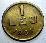 R.002 ROMANIA RPR 1 LEU 1951 CU/NI/ZN, Alama