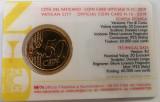 Cumpara ieftin (B.D.G.)  50 CENTI VATICAN, COIN CARD, Europa