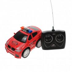 Masina de politie de jucarie, cu radiocomanda, 1:20, rosie - HSY66435R