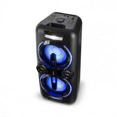 Auna Bazzter, sistem audio de petrecere, 2 x 50 W RMS, baterie, BT, USB, MP3, AUX, FM, LED, microfon