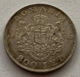 200 Lei 1942 Argint, Romania, XF, patina