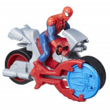 Figurina Spider-Man Blast'n Go cu Motocicleta, Hasbro
