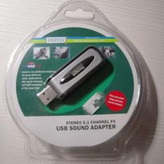 Placa de sunet pe USB DIGITUS, NOUA, drivere pentru Windows XP