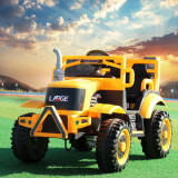 Tractor electric cu remorca si telecomanda Nichiduta Country Yellow