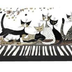 Etui pentru ochelari, Rosina Wachtmeister Cats Sepia