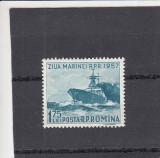 ROMANIA 1957  LP 435  ZIUA  MARINEI   MNH