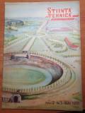 Stiinta si tehnica pentru tineret mai 1953-canalul dunare marea neagra