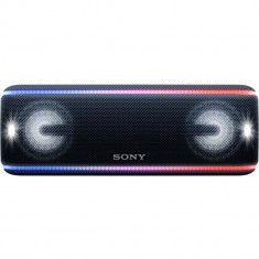 Boxa portabila SRSXB41B, EXTRA BASS, LIVE SOUND, Bluetooth, NFC, Wi-Fi, Wireless Party Chain, Party Booster, Rezistenta la apa, Efect de lumini, Negru, Sony