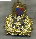 Y 1598 INSIGNA-MILITARA-EMBLEMA COIFURA- MARINA -PENTRU COLECTIONARI