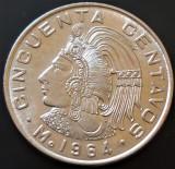 Moneda EXOTICA 50 CENTAVOS - MEXIC, anul 1964  *cod 655 - UNC