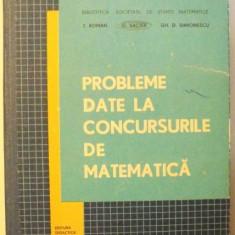 PROBLEME DATE LA CONCURSURILE DE MATEMATICA de T. ROMAN .. GH. D. SIMIONESCU , 1970