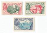 *Spania/Romania, Exil rom., em. a V-a, Exp. agric., Flora, dant., 1956, MH, Nestampilat