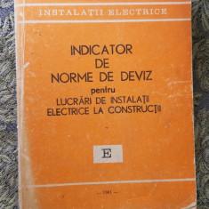 Indicator de norme de deviz pentru lucrari DE INSTALATII ELECTRICE LA CONTRUCTII