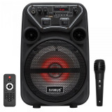 Boxa Portabila Samus Dance 6, Bluetooth, FM Radio, Intrare Aux/USB/TF Card, Negru