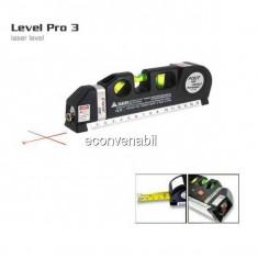 Nivela Laser cu Boloboc si Ruleta 2.5m Fixit Level Pro 3 LV03T