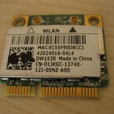 Placa wireless laptop Dell Latitude E6520, BCM943228HM4L, DW1530, 01JKGC