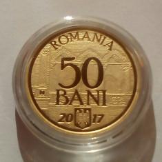 ROMANIA 50 BANI 2017 ,10 ANI ADERARE U.E . , Proof in capsula