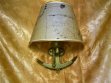 Nautica! Aplica Mid Century Modern bronz masiv colectie cadou, vintage